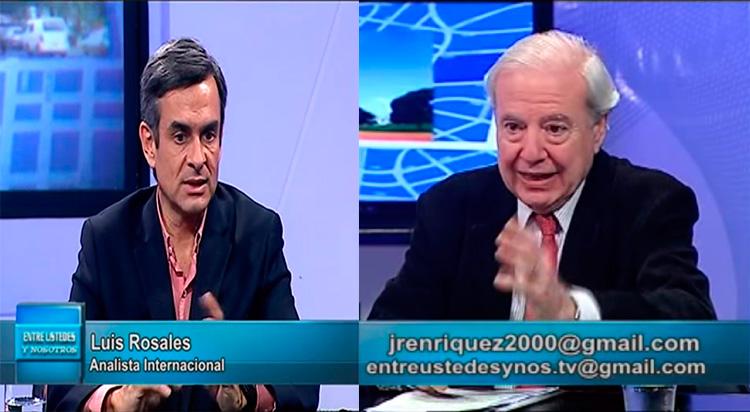 Luis Rosales en el piso del programa Entre Ustedes y Nosotros