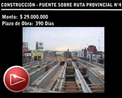 Puente sobre ruta provincial n°4 – Centro Construcciones